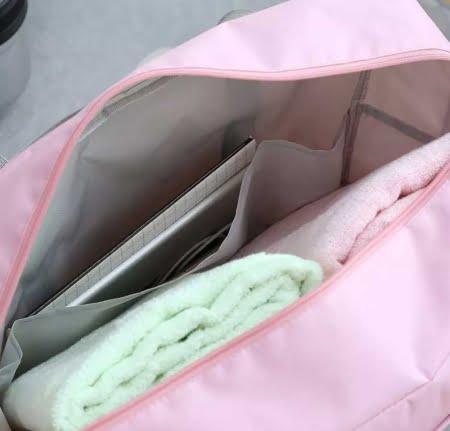 bolsa pastel bolsillos internos