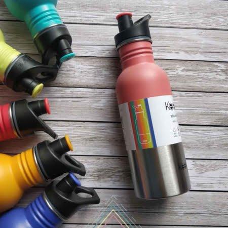 Botella reutilizable keep acero inoxidable metalica 600ml