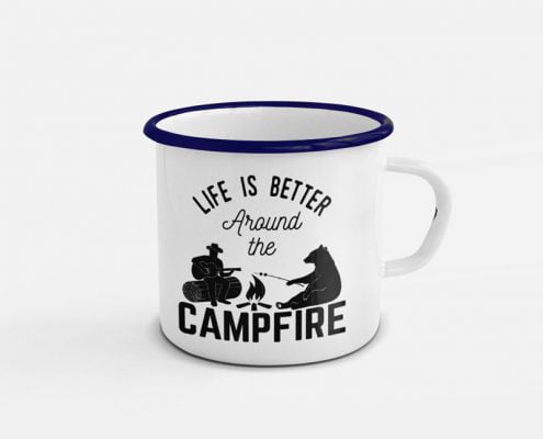 life is better around a campfire blanco